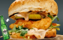 Classic crispy chicken burger /1бр./ + Подарък