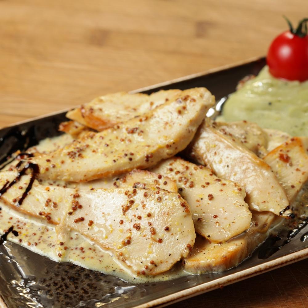 Пилешко филе със сладка горчица и сметана